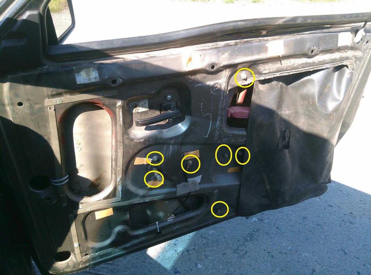 Установка электрических стеклоподъемников ГРАНАТ в передние двери ВАЗ-21099. Рис. 13