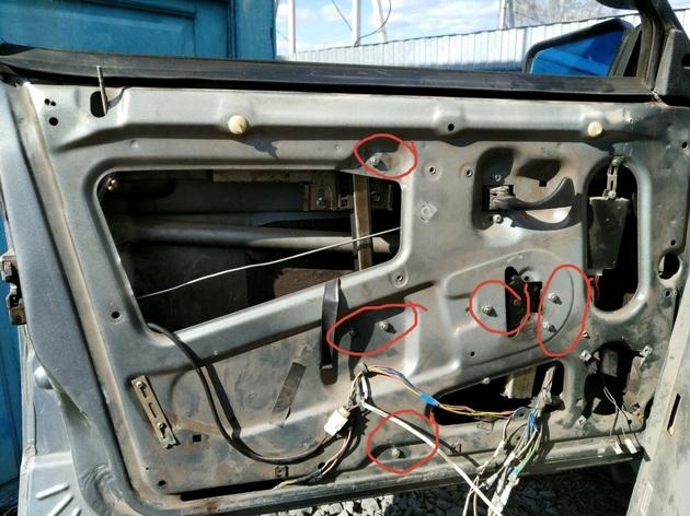Установка рычажных стеклоподъемников на ВАЗ-2114. Рис. 5