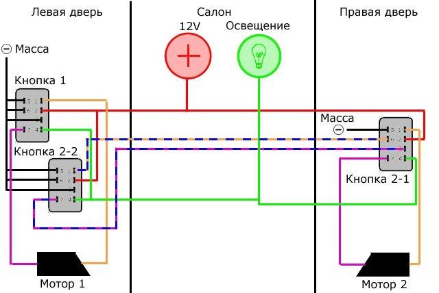 Установка стеклоподъемников ГРАНАТ на ВАЗ-2107. Рис. 6