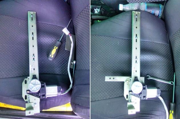 Установка стеклоподъемников ФОРВАРД на ВАЗ-2106 в передние двери. Рис. 14