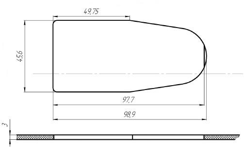 Место установки блока переключателей стеклоподъемников АВАР 354.3769