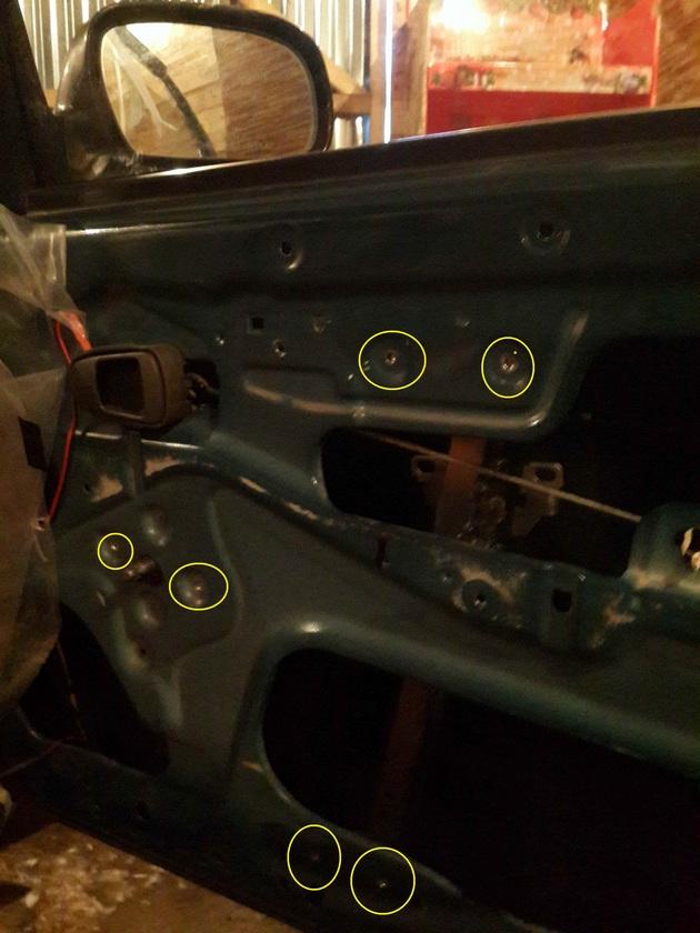 Установка в передние двери электрических стеклоподъемников ФОРВАРД для Daewoo Nexia Рис. 5