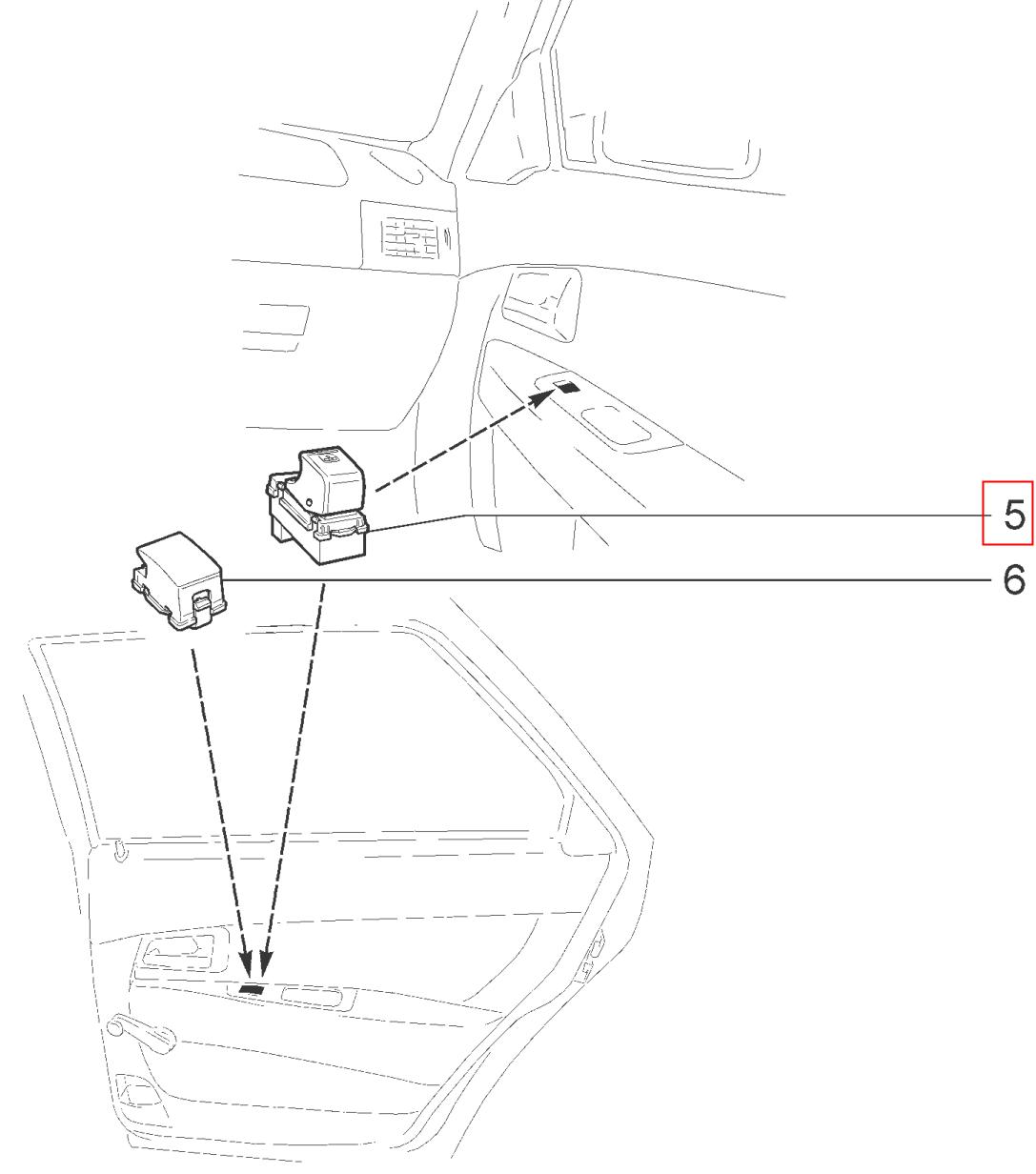 """Положение переключателя АВАР 51.3769 на схеме """"Каталога деталей и сборочных единиц Lada Priora"""""""