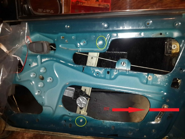 Установка в передние двери электрических стеклоподъемников ФОРВАРД для Daewoo Nexia Рис. 7