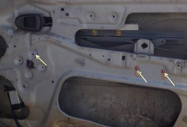 """Установка электростеклоподъемников """"КАТРАН"""" в передние двери Daewoo Nexia. Рис 7"""
