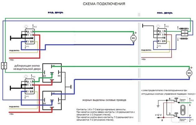 """Установка электростеклоподъемников """"КАТРАН"""" в передние двери Daewoo Nexia. Рис 8"""