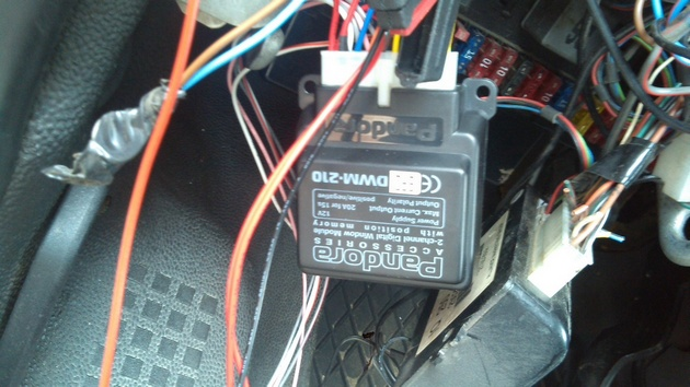 """Установка на VW Transporter T4 электростеклоподъемников """"ГРАНАТ"""" и доводчика стеклоподъемников Pandora DWM-210 Рис. 20"""