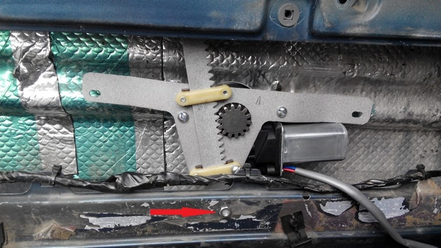 """Установка электрических стеклоподъемников """"ГРАНАТ"""" на VW Passat B3. Рис. 20"""