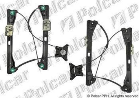 Стеклоподъемник Polcar для Skoda Rapid II передний правый без моторедуктора