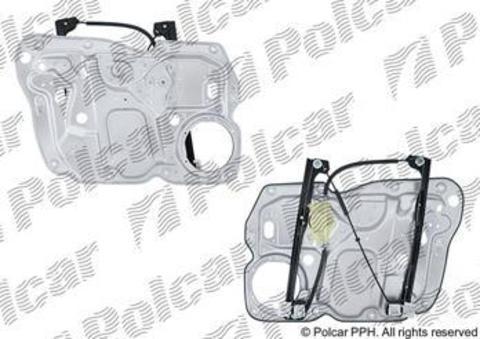 Электростеклоподъемник Polcar для Volkswagen Caddy III передний правый без моторедуктора