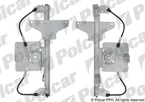 2329PSG4 Стеклоподъемник Polcar для Citroen C4 I задний правый без моторедуктора