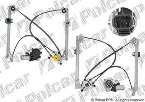 Стеклоподъемник Polcar для Audi A1 (3 дв.) передний правый
