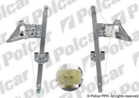 5065PSE2 Стеклоподъемник Polcar для Mercedes Sprinter II и Volkswagen Crafter передний правый