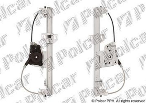 2040PSG4 Стеклоподъемник Polcar для BMW 3 Series V задний правый без моторедуктора