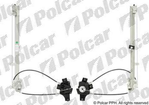 3055PSG2 Стеклоподъемник Polcar для Iveco EuroCargo, EuroStar, EuroTech, EuroTrakker, Magirus и Stralis передний правый без моторедуктора