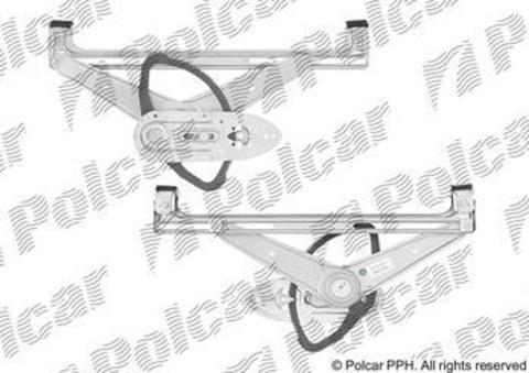 3202PSG5 Стеклоподъемник Polcar для Ford Focus II, C-Max I, Kuga I и Volvo V50 задний левый без моторедуктора